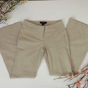 Express Stretch Khaki Flare Pants